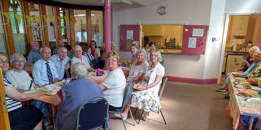 Group at a coffee morning